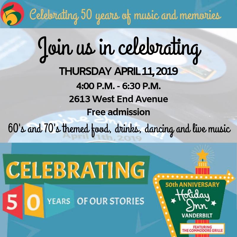 Holiday Inn Vanderbilt 50th Anniversary Celebration